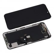 OEM iPhone X OLED Display Unit - резервен дисплей за iPhone X (пълен комплект) - тъмносив