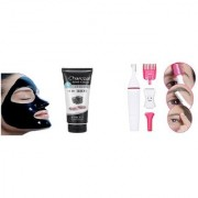 combo set of charcoal face mask with FLAWLESS HOT Finishing Touch Women's Painless Hair Remover