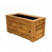 Jardinera de pino nórdico tratado en autoclave de 120x40x70 cm. de Madera para terrazas y jardines