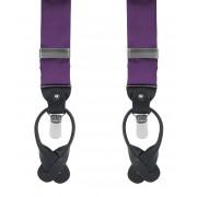 Hosenträger Seide Dunkellila F62 - Violett