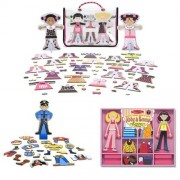 Melissa & Doug Abby & Emma Deluxe Magnetic Dress Up Plus Tops And Tights And Joey Magnetic Dress Up Bundle