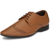 TIE THE LACES Men's Beige Formal Shoes