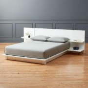 Andes White Full Bed by CB2