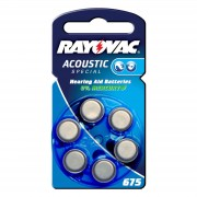 Rayovac 675 Acoustic 1.4 V, 640mAh button cell