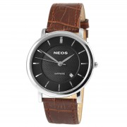 NEOS Bruin Saffier Horloge