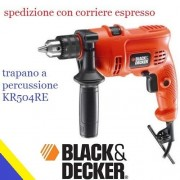 black & decker trapano a percussione kr504re 236737 500w forare demolire scanalare