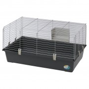 Cusca Rabbit 100 EL Negru / Argintiu, 95 x 57 x 46 cm