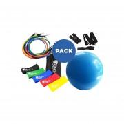 Pelota Pilates 65 Cm + Pack Loops + Kit 11 Piezas