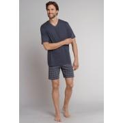 Schiesser Nachtmode Ebony Korte Pyjama Antraciet / male