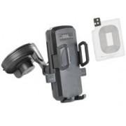 Callstel Support smartphone pour voiture avec chargeur compatible Qi et patch Galaxy S5