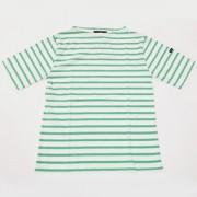 ≪SAINT JAMES≫PIRIAC半袖Tシャツ(NEIGE/CHLOROPHYL)[さっぽ店からの発送]