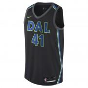 Dirk Nowitzki City Edition Swingman Jersey (Dallas Mavericks) Nike NBA Connected Herrentrikot - Schwarz