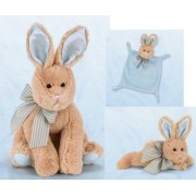 Bunny Tails Rabbit Musical Plush Toy, Wee Blanket, And Plush Rattle Set