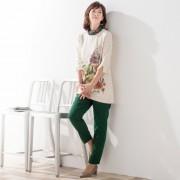 フラワー ラウンドネックシンプルチュニック【QVC】40代・50代レディースファッション
