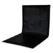 Zeus Coussin d'assise Slim Sissi / Pour chaise Slim Sissi - Zeus noir en cuir