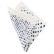 Ulterior Motive Warp Dots Handkerchief White/Black/Blue