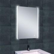 Badkamerspiegel Wiesbaden Duo 50x70cm Geintegreerde LED Verlichting Verwarming Anti Condens Lichtschakelaar Dimbaar