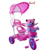 Oh Baby Baby fun bear look Musical With Tubeless Tyre 2 In 1 Function pink Color Tricycle For Your Kids SE-TC-47