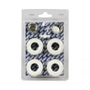 "Kit accesorii pentru radiator aluminiu ( 4 reductii, dop, aerisitor si cheie) 1""x1/2"""