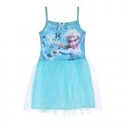 Rochie cu bretele Frozen bleu 5 ani