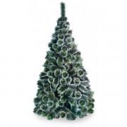 Brad Artificial Pin Cu Spice Albe 150 Cm