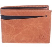New Tareen Men Casual Brown Genuine Leather Wallet(8 Card Slots)