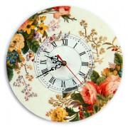 Ceas de perete model floral 5083