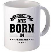 "Cana personalizata ""Legends are born in February""."