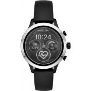 Michael Kors MKT5049 Runway Smart Watch Sliver with BlackStraps, B