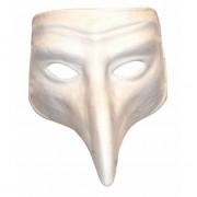 Merkloos Plaag comedy masker wit