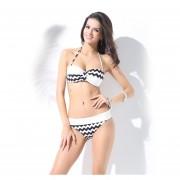 Las Mujeres Traje De Baño Push UP Bikini Set De Playa De Verano Traje De Baño- Negro