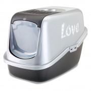 Savic Love Nestor Impression, котешка тоалетна Д 56 x Ш 39 x В 38,5см - черно/ сребърно