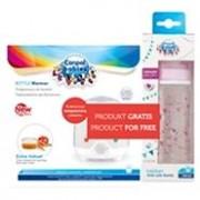Canpol babies elektromos üvegmelegítő + PARTY motívumos üveg rózsaszín