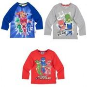 PJ Masks Pyjamashjältarna, Långärmad T-Shirt, barn (Grå, 6 ÅR - 116 CM)