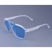 Mickle Aviator, Clubmaster, Oval, Over-sized, Round, Shield, Spectacle , Wayfarer Sunglasses(Blue, Clear)