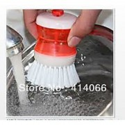 Set Of 2 Pcs Cleaning Brush With Soap Dispensing For Sink Dish Washing Kitchen