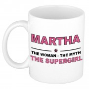 Bellatio Decorations Martha The woman, The myth the supergirl cadeau koffie mok / thee beker 300 ml