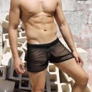 McKillop Shade Sheer Shorts Black CSME-BK1