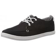 Diadora Men's Rapido Black and White Canvas Sneakers - 10 UK