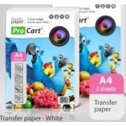 Hartie Procart transfer termic A4 pentru tricouri albe