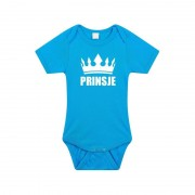 Shoppartners Prinsje met kroon rompertje blauw baby