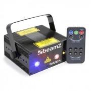 Bianca Projetor Laser de Feixe Duplo 330 W RGB 12 Gobos DMX 7 Master/Slave