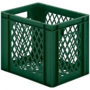 Certeo Euro-Format-Stapelbehälter, Wände und Boden durchbrochen - LxBxH 400 x 300 x 320 mm - grün, VE 5 Stk