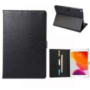 ENKAY for iPad 10.2 (2019) Crazy Horse Texture PU Leather Wallet Stand Auto-wake/sleep Casing Shell - Black