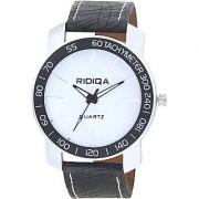 RIDIQA Analog BlackStrap White Dial Stylish Watch for Men's combo RD-110