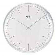 AMS 9540 Wandklok zilverkleurig 40 cm ø