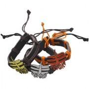 Sullery Lord Shiv Malakal Leather Bracelet
