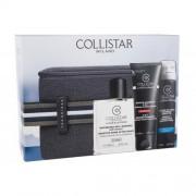 Collistar Linea Uomo подаръчен комплект душ гел 100 ml + балсам след бръснене 100 ml + пяна за бръснене 75 ml + козметична чантичка The Bridge за мъже