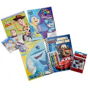 Disney Pixar Ultimate Coloring Book Assortment ~ 4 Books Featuring Disney Cars, Toy Story, Finding Nemo and More (Includes Stickers)