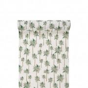 Santex Chemin De Table Coton Tropical Vert 3 m